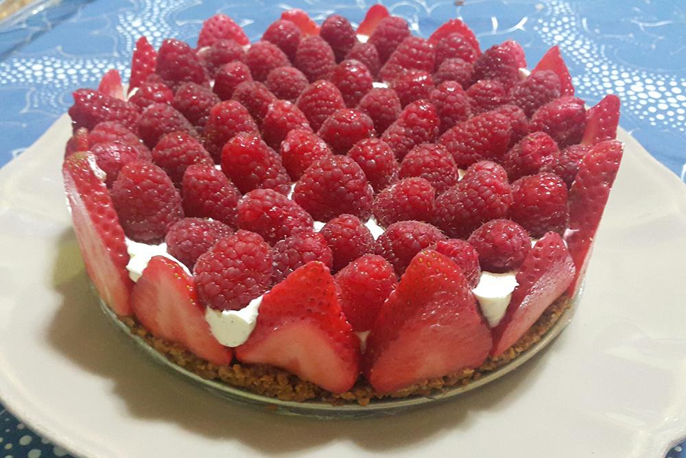 cheesecake aux fruits rouges sans sucre la di te c tog ne. Black Bedroom Furniture Sets. Home Design Ideas