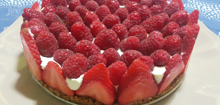 Cheesecake aux fruits rouges sans sucre